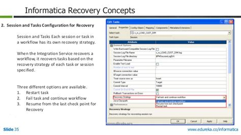 workflow recovery in informatica informatica powercenter agile data integration tool