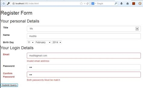design form javascript javascript display error message phpsourcecode net