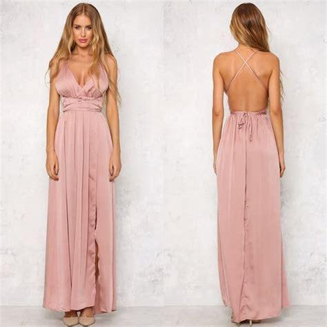 Maxi Dusty Pink morning mist maxi dress dusty pink mycelebritydress