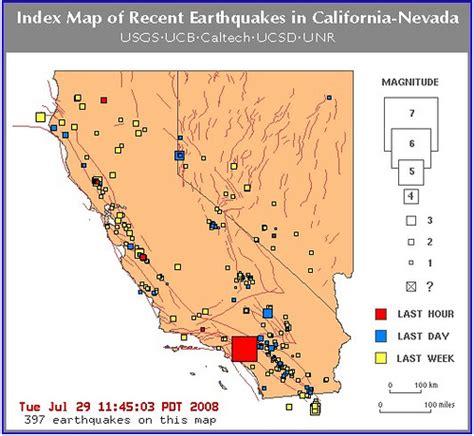 recent earthquakes map nevada earthquake 2008