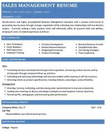 Sales Manager Resumes by Resume Sles Types Of Resume Formats Exles And
