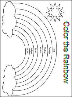 rainbow coloring page cutouts printable color the rainbow kindergarten worksheet