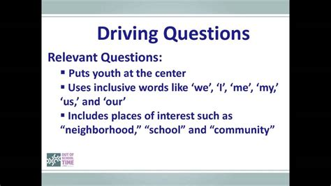 drive questions philly ost driving questions for project based learning