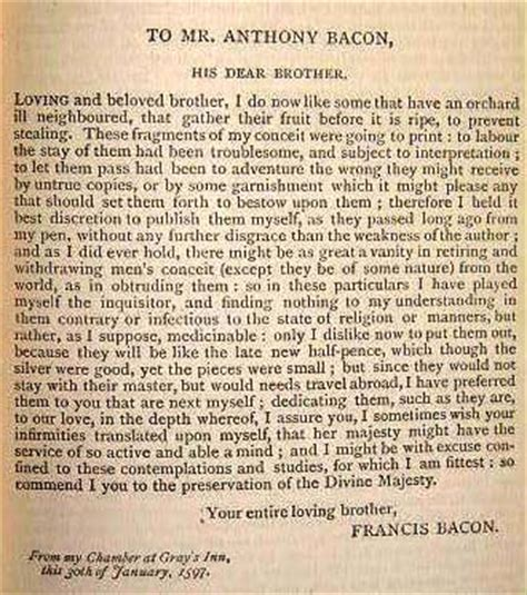 Prose Style Of Francis Bacons Essays by Essay By Francis Bacon A Rich Figure To Explore