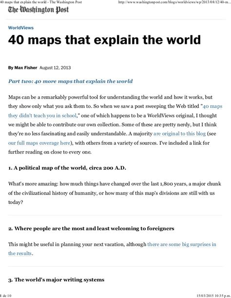 a section on a map that explains the maps features 40 maps that explain the world the washington post