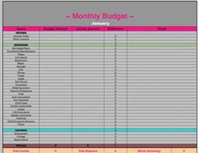 Template Monthly Budget Monthly Budget Spreadsheet Frugal Fanatic