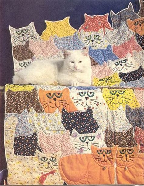 Quilted Calico 4 by 171 Best Cats On Quilts Images On