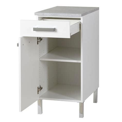 meuble bas 1 porte et 1 tiroir quot glossy quot blanc