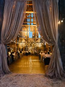 Barn wedding ideas barn ceremony draping photo john schnack