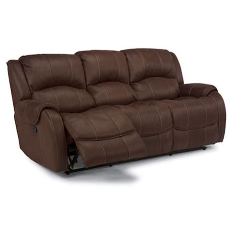 flex steel couches flexsteel 1549 62 pure comfort double reclining sofa