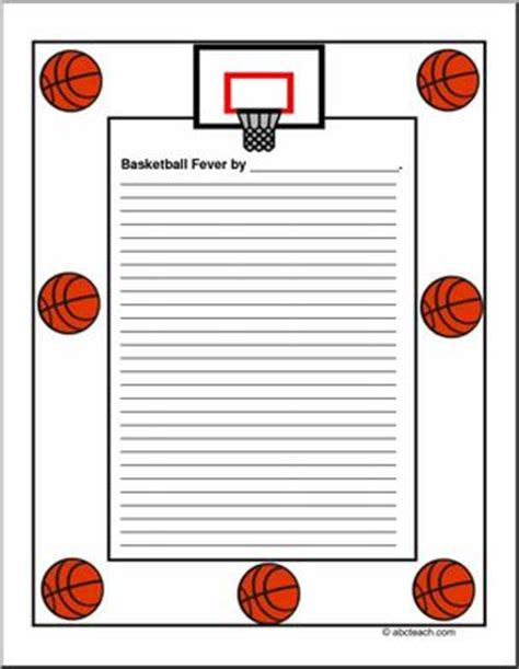 lined paper with sports border border paper basketball fever elementary abcteach