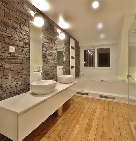 a駻ation cuisine decoration salle de bain bois