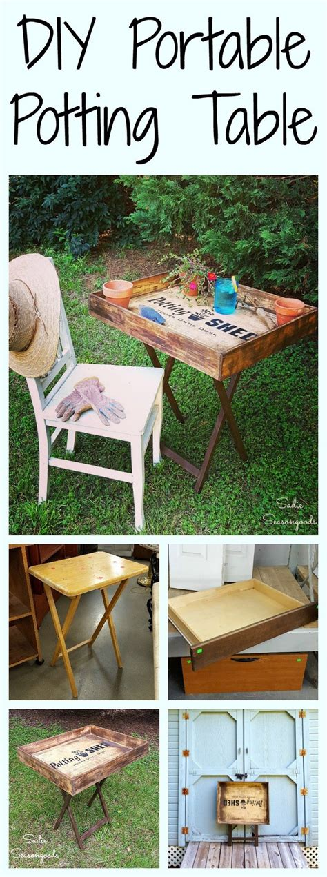 portable potting bench 25 best ideas about diy end tables on pinterest pallet