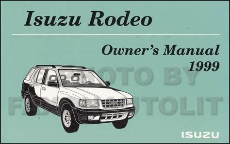 2000 Isuzu Rodeo Free Repair Manual Isuzu Rodeo Sport