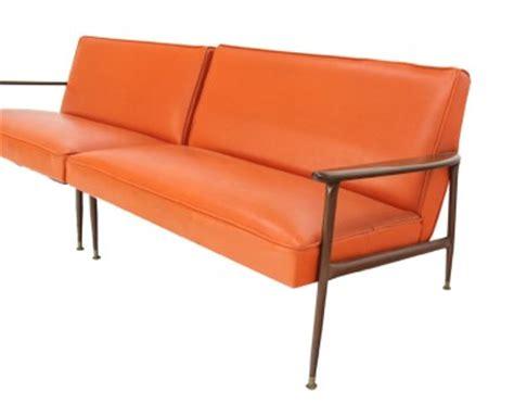 vintage orange sofa mid century modern sectional vintage orange vinyl sofa and