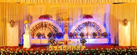 Wedding Stage and Flower Decorations Kerala