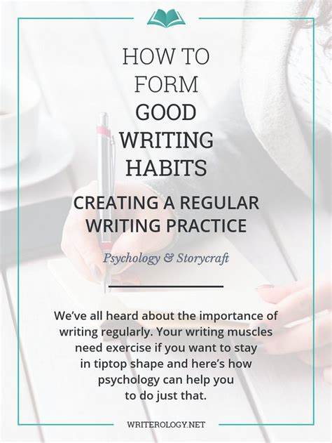 how to form writing habits