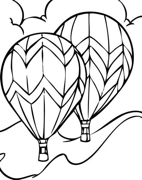 Large Coloring Pages To Print by Detailed Air Balloon Coloring Page Clipart Panda