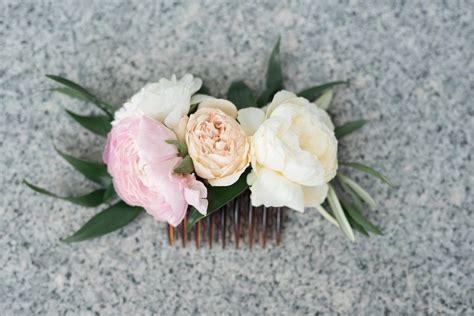 Wedding Flower Hair Comb wedding hair flowers flower hair combs brides hair flowers