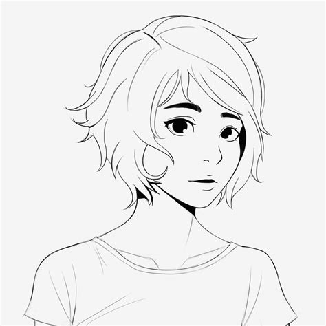 Short Hairstyles Drawings | sketch short hair by patvazquez on deviantart