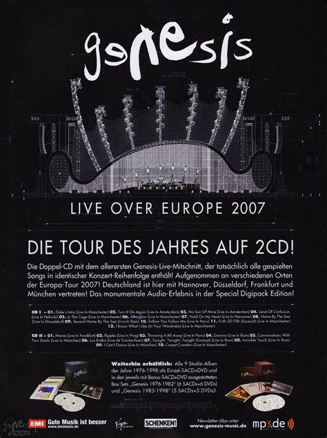 genesis europe live europe the genesis archive