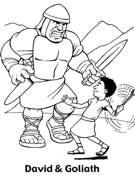 goliath coloring page coloring pages