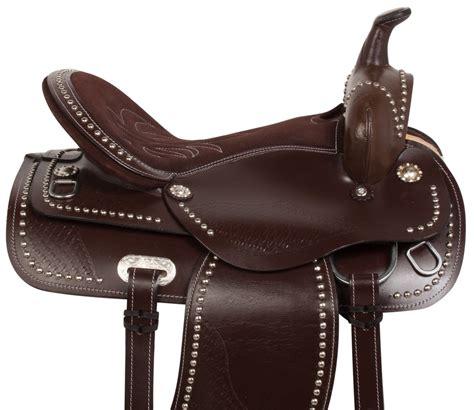 horse saddle 16 17 18 western brown pleasure trail barrel endurance