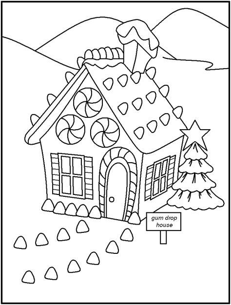 coloring page christmas house christmas gingerbread house coloring pages az coloring pages