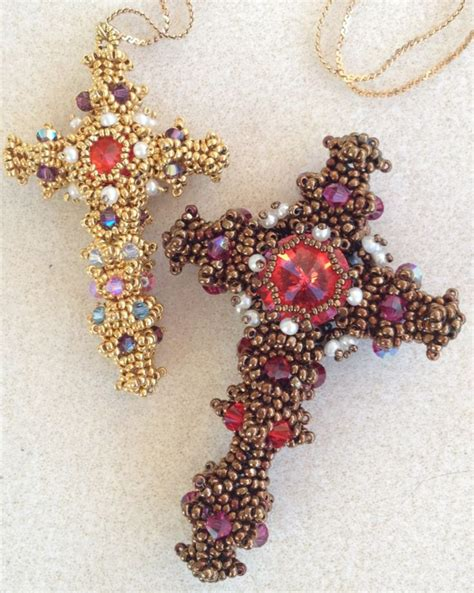 swarovski bead patterns 1000 images about beaded crosses on cross