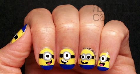 tutorial nail art minions despicable me minion nails tutorial the little canvas