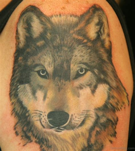 realistic wolf tattoo 51 wolf tattoos on shoulder