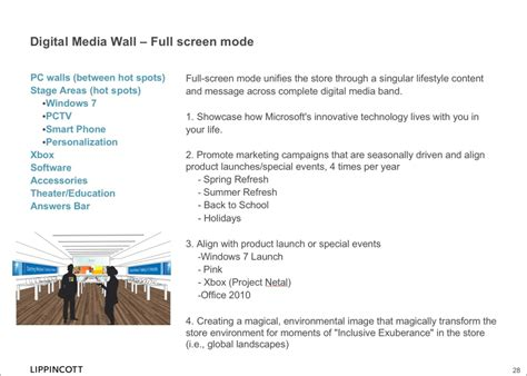 layout strategy of apple leak inside the microsoft store with wall sized screens