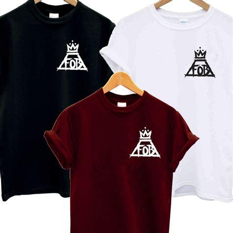 Tshirt Fall Out Boy Fob fob pocket logo t shirt fall out boy crown and album