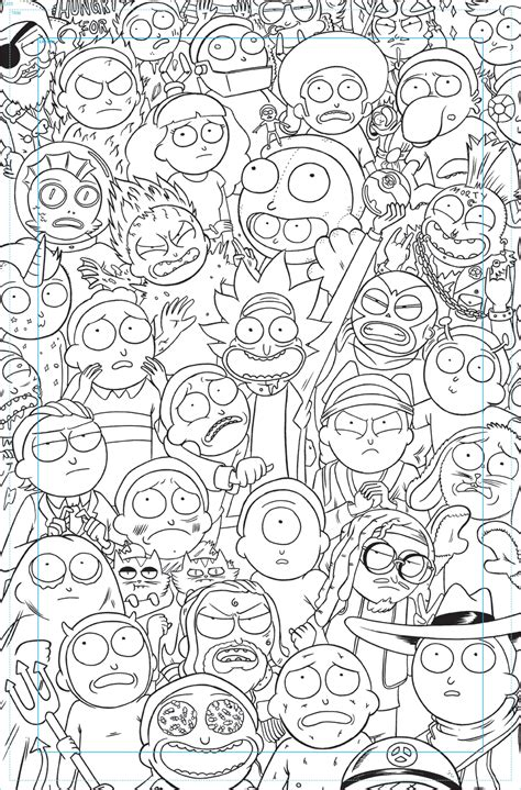 1 rick and morty coloring book books image marc ellerby issue 1 cover progress inks jpg