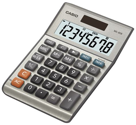 Desk Top Calculator by Casio Ms 80b Standard Function Desktop