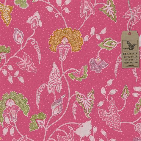 Kain Batik Motif Soft Primis 12 Gambar Cek Batik Kain Motif Unik Bunga Kangkung Pink Soft