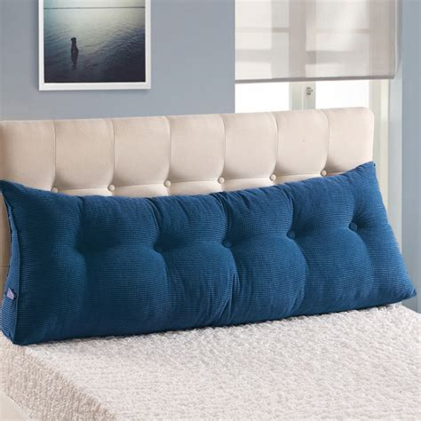 backrest pillow for bed sofa bed large filled triangular wedge cushion bed