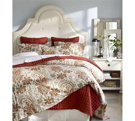 red paisley bedding charlie paisley organic duvet cover sham red