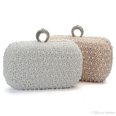 Dompet Pesta Flower Luxury Evening Clutches 2015 evening clutch bag gorgeous pearl