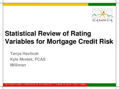 Risk Of Variable Loan Mba by Statistical Review Of Mortgage Credit Risk Variables Ica 2010