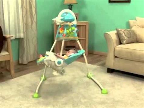 fisher price swing stopped swinging fisher price precious planet deluxe cradle swing youtube
