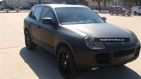 porsche cayenne black 2004 porsche cayenne s matte black paint