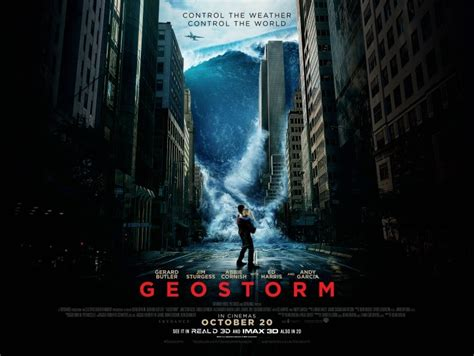 geostorm film poster win geostorm merchandise the people s movies