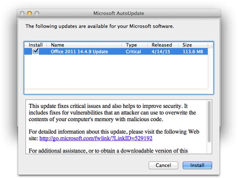 Microsoft Office Updates Microsoft Releases Office 2011 14 4 9 Update Patches