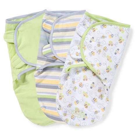 Swaddle Blankets How To Use by Neutral Busy Bees Swaddle Blankets 3 Pack