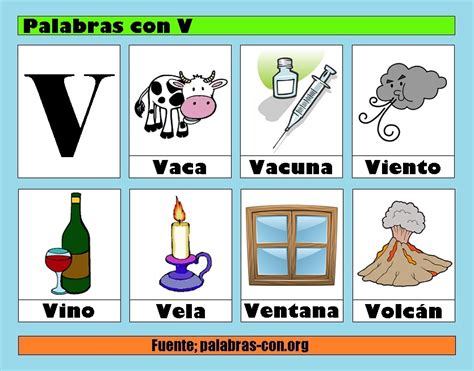 Imagenes Que Inicien Con La Letra V | palabras con la letra v v ejemplos de palabras con v