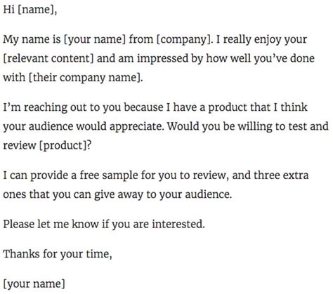 11 Outstanding Influencer Outreach Email Templates Reach Out Email Template