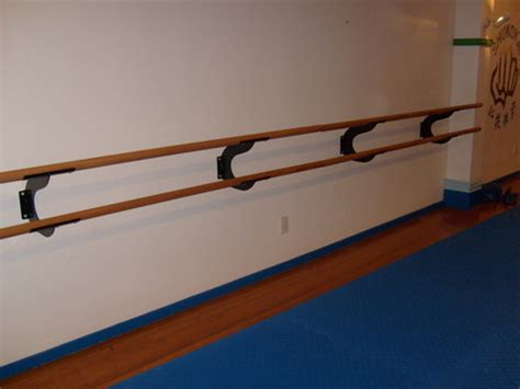 wall mounted double ballet barre ballet