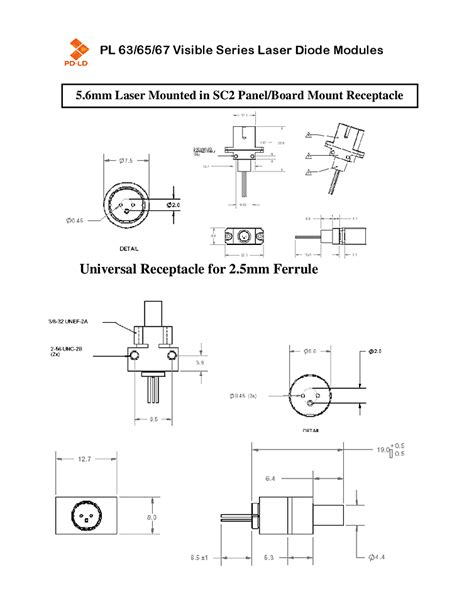 laser diode nm coaxial pd ld