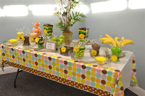 Candy Buffet For My Daughter S Baby Shower Jungle Safari Buffet Baby Shower